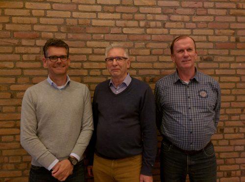 v.l.n.r. Gerwin Slappendel, Hans Rootert en Rob Kamer