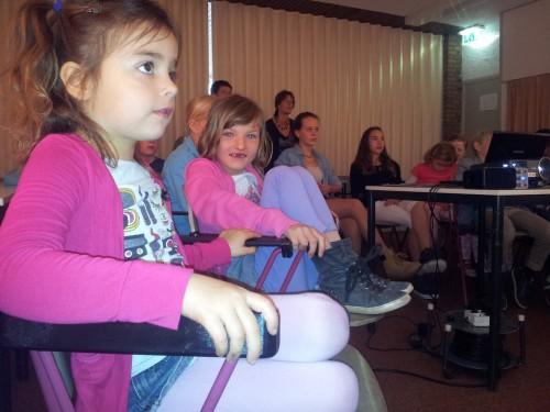 Zelfs de kleintjes hadden aandacht voor de film